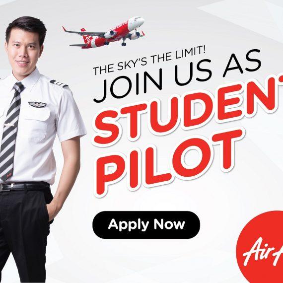 เปิดสอบชิงทุน Student Pilot Air Asia ประจำปี 2017