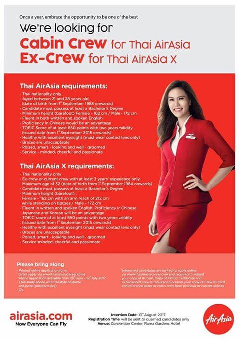 Thai Air Asia Cabin Crew & Ex-Crew Recruitment