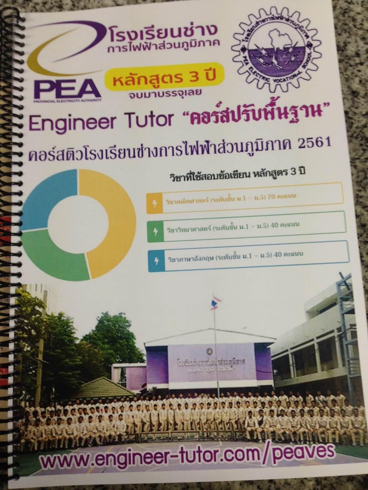 หนังสือติวสอบโรงเรียนช่างการไฟฟ้าส่วนภูมิภาค