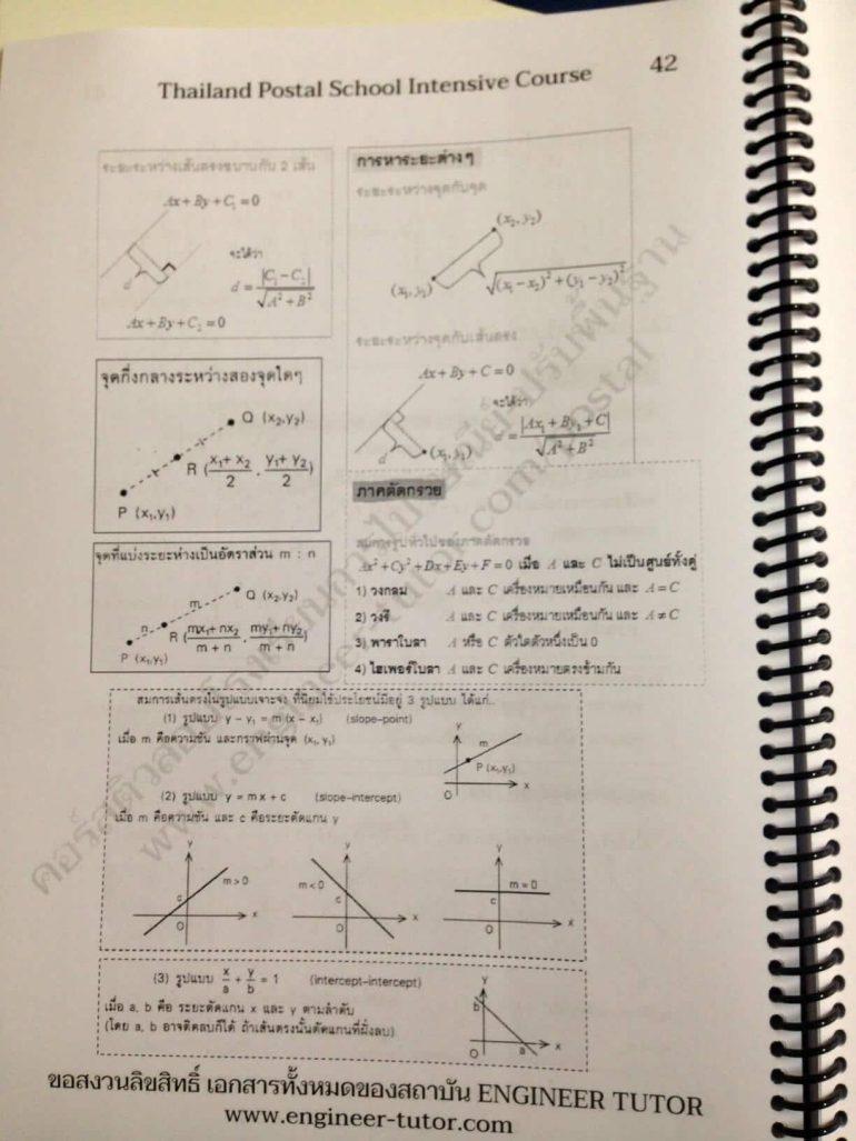 หนังสือเตรียมสอบโรงเรียนการไปรษณีย์