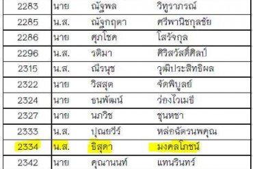 ประกาศรายชื่อผู้ผ่านการคัดเลือก รอบที่ 2 นักเรียนควบคุมจราจรทางอากาศ บริษัทวิทยุการบินแห่งประเทศไทย 2561