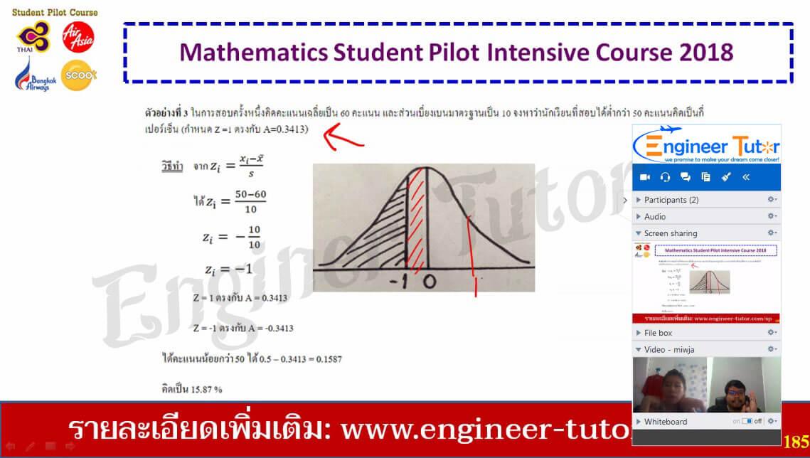 คอร์สติวเตรียมสอบ Student Pilot Thai Air Asia วิชาคณิตศาสตร์ 2562