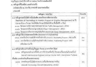 ระเบียบการรับสมัครสอบสถาบันการบินพลเรือน ปีการศึกษา 2562