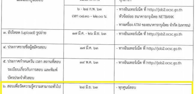 สมัครสอบสำนักงาน กพ. ภาค ก ปกติ ประจำปี 2563