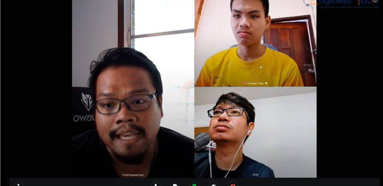ภาพบรรยากาศติวสอบสัมภาษณ์ออนไลน์ นาย ชนกันต์ รพี (น้องขนุน) โรงเรียนสระบุรีวิทยาคม จ.สระบุรี หลักสูตร 3 ปี 2563