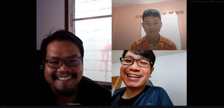 ภาพบรรยากาศติวสอบสัมภาษณ์ออนไลน์ นาย สุทธิภัทร วงษ์รัตน์ (น้องลีโอ) โรงเรียนปราจิณราษฎรอํารุง จ.ปราจีนบุรี หลักสูตร 3 ปี 2563
