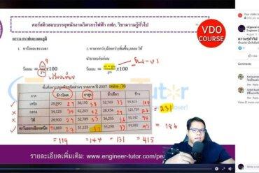 บรรยากาศการเรียนคอร์ส LIVE STREAMING ติวสอบบรรจุการไฟฟ้าส่วนภูมิภาค ตำแหน่งวิศวกรไฟฟ้า วิชาความรู้ทั่วไป 2563