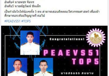 ขอแสดงความยินดีกับ นาย สธนธร สมนาม (ติวเตอร์) ได้อันดับ 1 โรงเรียนช่างการไฟฟ้าส่วนภูมิภาค รุ่น นรช.51